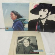 Discos de vinilo: JOAN BAEZ. RECENTLY. SPEAKING OF DREAMS. GRANDES EXITOS Y OTROS. 3 LP VINILO. VER FOTOS. Lote 96384639
