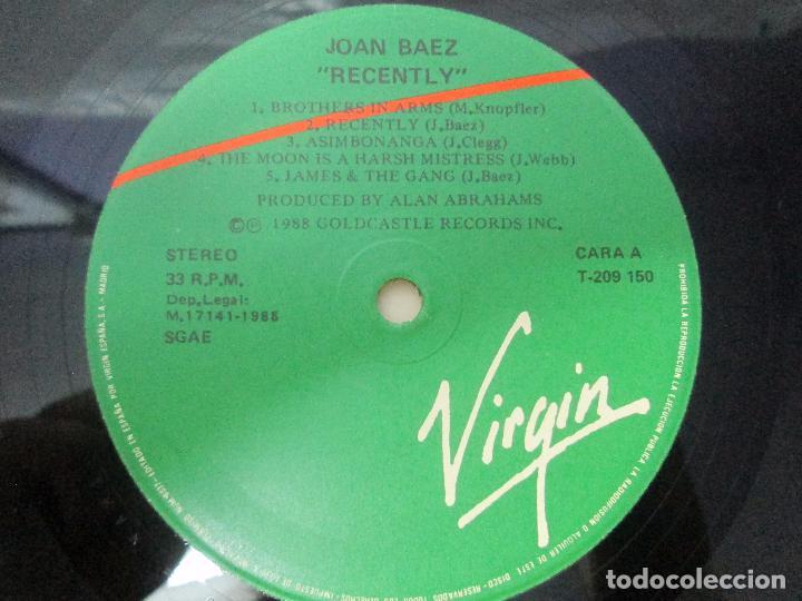 Discos de vinilo: JOAN BAEZ. RECENTLY. SPEAKING OF DREAMS. GRANDES EXITOS Y OTROS. 3 LP VINILO. VER FOTOS - Foto 19 - 96384639