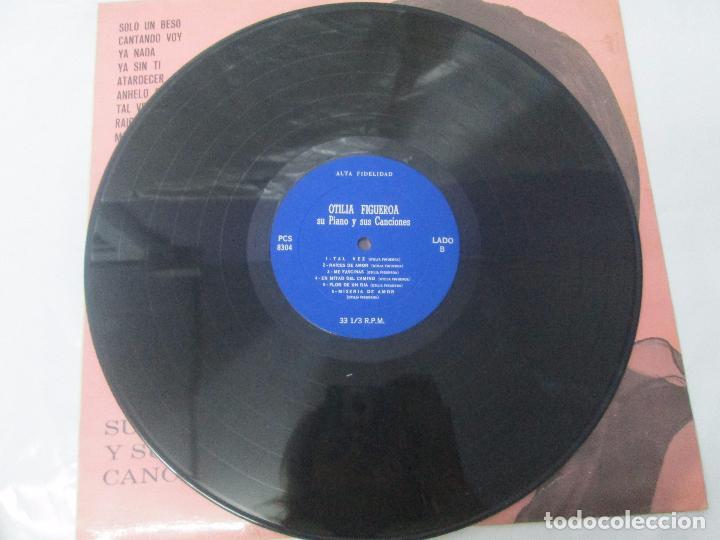 Discos de vinilo: OTILIA FIGUEROA. SU PIANO Y SUS CANCIONES. LP VINILO CON FIRMA POSIBLEMENTE DE LA AUTORA VER FOTOS - Foto 5 - 147430130