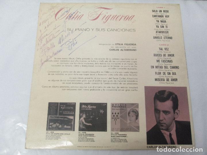 Discos de vinilo: OTILIA FIGUEROA. SU PIANO Y SUS CANCIONES. LP VINILO CON FIRMA POSIBLEMENTE DE LA AUTORA VER FOTOS - Foto 9 - 147430130