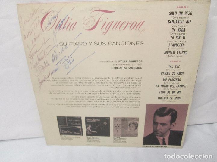 Discos de vinilo: OTILIA FIGUEROA. SU PIANO Y SUS CANCIONES. LP VINILO CON FIRMA POSIBLEMENTE DE LA AUTORA VER FOTOS - Foto 10 - 147430130