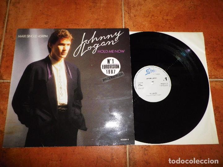 JOHNNY LOGAN HOLD ME NOW MAXI SINGLE VINILO DEL AÑO 1987 ESPAÑA EUROVISION 1987 IRLANDA 2 TEMAS (Música - Discos de Vinilo - Maxi Singles - Festival de Eurovisión)