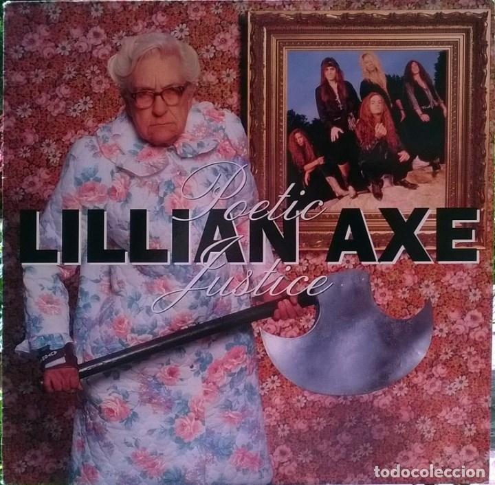 LILLIAN AXE. POETIC JUSTICE. MUSIC FOR NATIONS, FRANCE 1992 LP + ENCARTE MFN-131 (Música - Discos - LP Vinilo - Heavy - Metal)