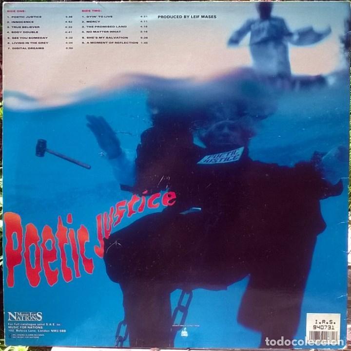 Discos de vinilo: Lillian Axe. Poetic justice. Music for Nations, France 1992 LP + encarte MFN-131 - Foto 2 - 96418923