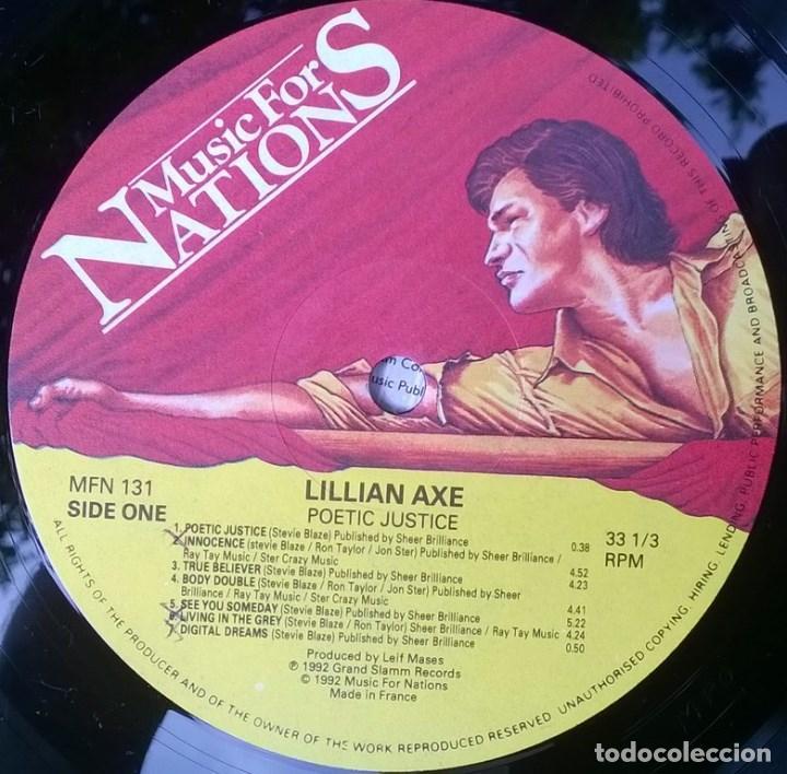 Discos de vinilo: Lillian Axe. Poetic justice. Music for Nations, France 1992 LP + encarte MFN-131 - Foto 5 - 96418923