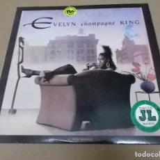 Discos de vinilo: EVELYN CHAMPAGNE KING (MX) FLIRT +3 TRACKS AÑO 1988 – EDICION U.S.A.. Lote 96431175