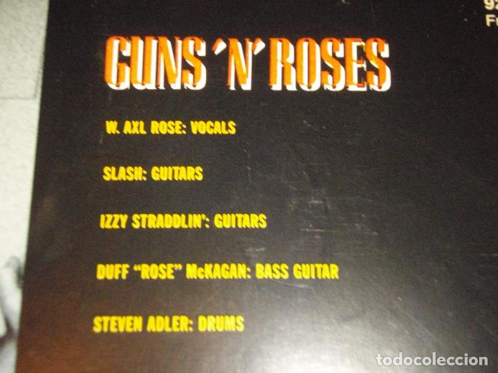 Discos de vinilo: GUNS N ROSES ( ITS SO EASY - MR. BROWNSTONE - SHADOW OF YOUR LOVE - MOVE TO THE CITY ) 1987-GE - Foto 3 - 96431223