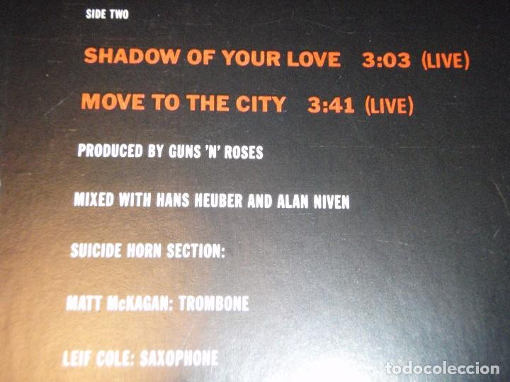 Discos de vinilo: GUNS N ROSES ( ITS SO EASY - MR. BROWNSTONE - SHADOW OF YOUR LOVE - MOVE TO THE CITY ) 1987-GE - Foto 5 - 96431223