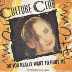 Discos de vinilo: CULTURE CLUB_DO YOU REALLY WANT TO HURT ME_7 NETHERLAND SINGLE_1983 COMO NUEVO!!!. Lote 96434643