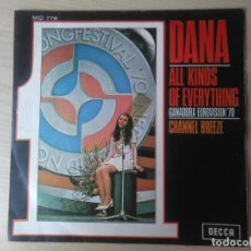 Discos de vinilo: DANA_ALL KINDS OF EVERYTHING_CHANNEL BREEZE_7 SPAIN SINGLE_1970 COMO NUEVO!!!. Lote 96435243