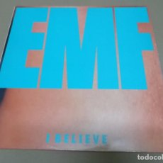 Discos de vinilo: EMF (MX) I BELIEVE +2 TRACKS AÑO 1991. Lote 96437791