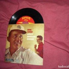 Discos de vinilo: BING SINGS EP AÑOS 50 VER FOTO ADICIONAL TEMAS. Lote 96451983