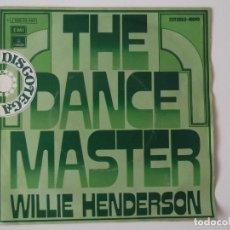Discos de vinilo: WILLIE HENDERSON - THE DANCE MASTER. Lote 96458863
