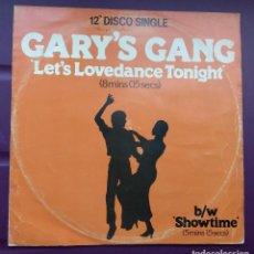 Discos de vinilo: GARY'S GANG– LET'S LOVEDANCE TONIGHT. Lote 96467723