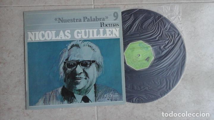 NICOLÁS GUILLÉN - NUESTRA PALABRA, POEMAS - LP VINILO (Música - Discos - LP Vinilo - Otros estilos)