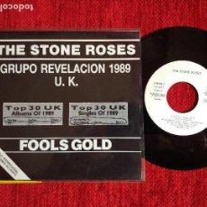Discos de vinilo: THE STONE ROSES SG. FOLLS GOLD COMPLETAMENTE NUEVO PROMOCIONAL. Lote 96482427