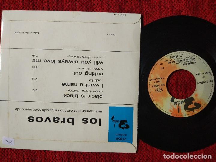 Discos de vinilo: LOS BRAVOS Black is black Ep FRANCÉS - Foto 2 - 96491991