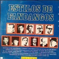 Discos de vinilo: ESTILOS DE FANDANGOS. (FLAMENCO. BELTER 1970). Lote 96499607