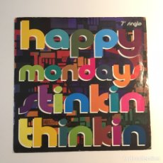 Discos de vinilo: HAPPY MONDAYS - STINKING THINKING. Lote 96507440