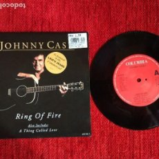 Discos de vinilo: JOHNNY CASH+ RING OF FIRE+ SINGLE INGLÉS. Lote 96508111