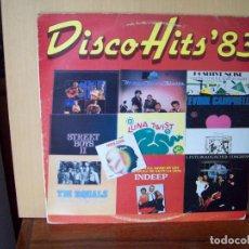 Discos de vinilo: DISCO-HITS 83 - LP . Lote 96532311