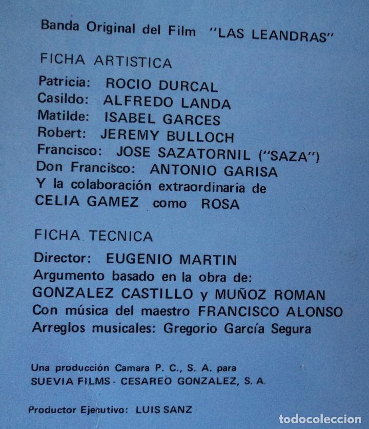 Discos de vinilo: Rocío Dúrcal - Las Leandras - Edición de 1969 de España - Foto 3 - 96538059