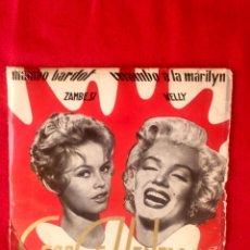 Discos de vinilo: GEORGE HENRY Y SU ORQUESTA MAMBO A LA MARILYN MAMBO BARDOT NELLY ZAMBESI 1956 BELTER 50052 45 RPM. Lote 96540191