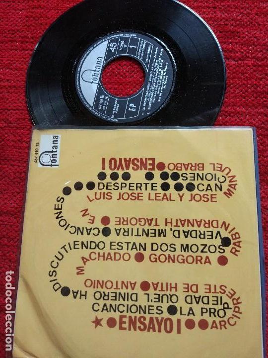 ENSAYO 1 EP LA PROPIEDAD QUE'L DINERO HA (Música - Discos - Singles Vinilo - Grupos Españoles 50 y 60)