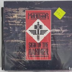 Discos de vinilo: LP MANOWAR - SIGN OF THE HAMMER - UK EDITION. Lote 98404295