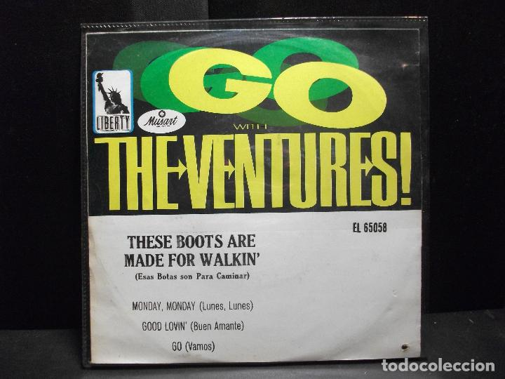 Discos de vinilo: THE VENTURES MONDAY MONDAY/GOOD LOVIN..... EP MEJICO PDELUXE - Foto 2 - 96553571