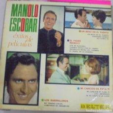 Discos de vinilo: LP. MANOLO ESCOBAR. EXITOS DE PELICULAS. BELTER. 1967. Lote 96564543