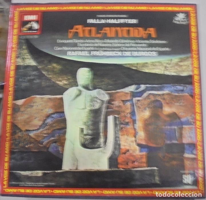 FALLA - HALFFTER. ATLANTIDA. RAFAEL FRÜHBECK DE BURGOS. DOBLE LP + LIBRETO. 1988 (Música - Discos - LP Vinilo - Clásica, Ópera, Zarzuela y Marchas)