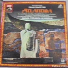 Discos de vinilo: FALLA - HALFFTER. ATLANTIDA. RAFAEL FRÜHBECK DE BURGOS. DOBLE LP + LIBRETO. 1988. Lote 108834335