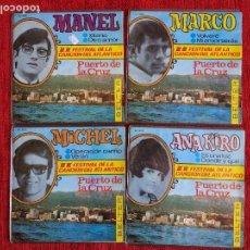 Discos de vinilo: MANEL+ ANA KIRO+ MICHEL+ MARCO+ 4DISCOS FESTIVAL DE LA CANCIÓN DEL ATLÁNTICO. Lote 96598851