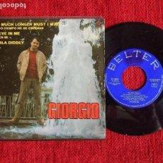 Discos de vinilo: GIORGIO EP BELIEVE IN ME. Lote 96601719