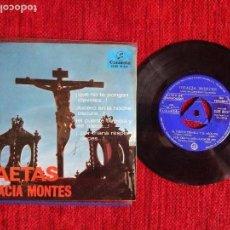 Discos de vinilo: GRACIA MONTES +SAETAS + EP QUE NO TE PONGAN CLAVELES PROMO. Lote 96602003