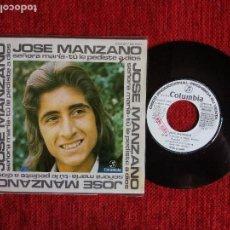 Discos de vinilo: JOSÉ MANZANO+ SEÑORA MARÍA. Lote 96602303
