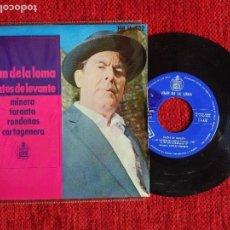 Discos de vinilo: JUAN DE LA LOMA+ EP LOS MINEROS DE ALMERÍA . Lote 96606271