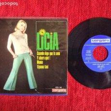 Discos de vinilo: LICIA + EP CUANDO DIGO QUE TE AMO. Lote 96607587