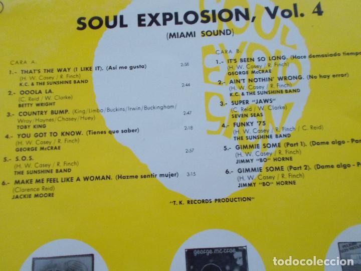Discos de vinilo: SOUL EXPLOSION.VOL 4. MIAMI SOUND - Foto 3 - 96622963