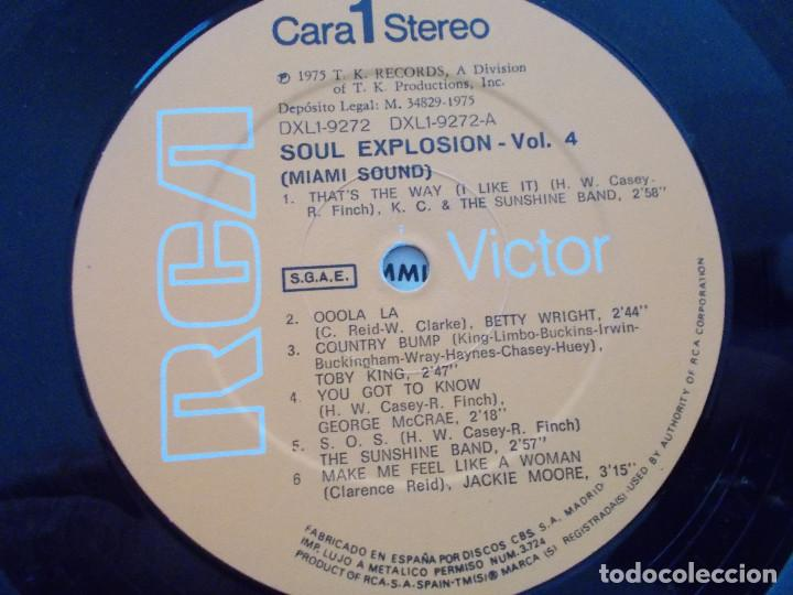 Discos de vinilo: SOUL EXPLOSION.VOL 4. MIAMI SOUND - Foto 4 - 96622963