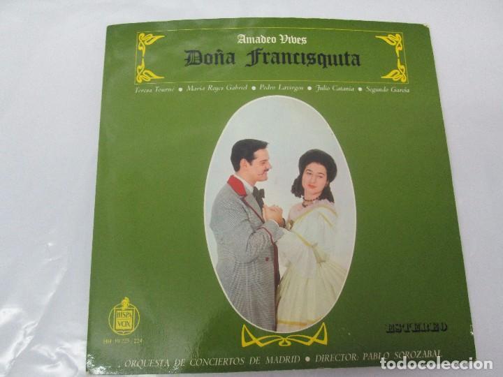 Discos de vinilo: AMADEO VIVES. DOÑA FRANCISQUITA. 2 DISCOS. LP VINILO. ZARZUELA . HISPAVOX 1963. VER FOTOGRAFIAS - Foto 2 - 96631571