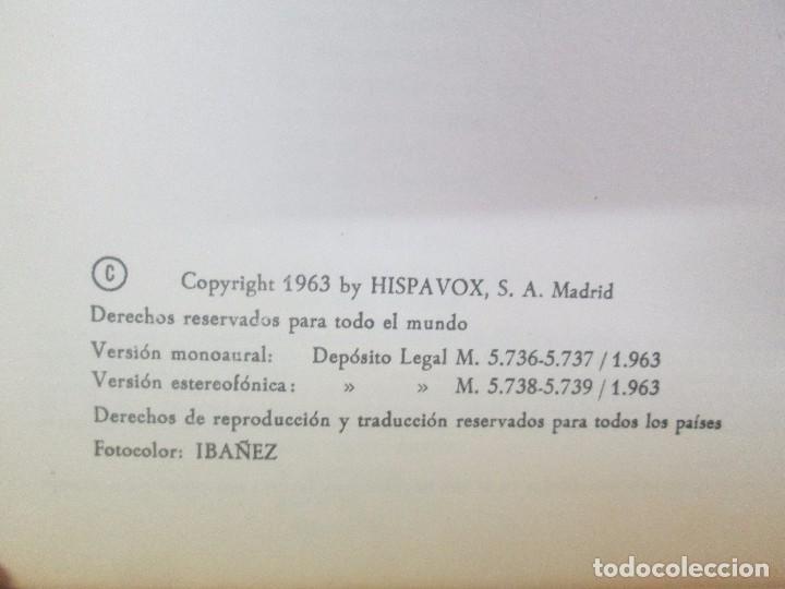 Discos de vinilo: AMADEO VIVES. DOÑA FRANCISQUITA. 2 DISCOS. LP VINILO. ZARZUELA . HISPAVOX 1963. VER FOTOGRAFIAS - Foto 7 - 96631571