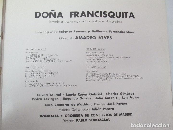 Discos de vinilo: AMADEO VIVES. DOÑA FRANCISQUITA. 2 DISCOS. LP VINILO. ZARZUELA . HISPAVOX 1963. VER FOTOGRAFIAS - Foto 8 - 96631571