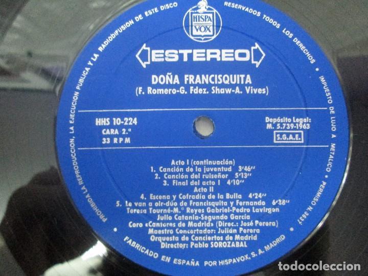 Discos de vinilo: AMADEO VIVES. DOÑA FRANCISQUITA. 2 DISCOS. LP VINILO. ZARZUELA . HISPAVOX 1963. VER FOTOGRAFIAS - Foto 10 - 96631571
