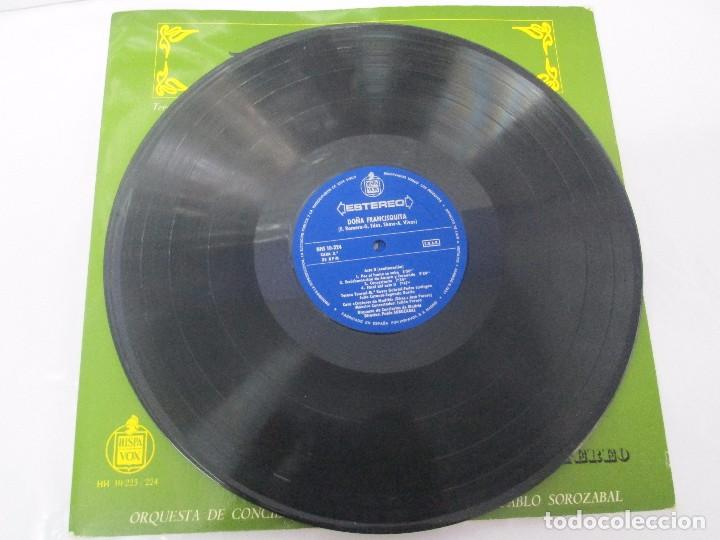 Discos de vinilo: AMADEO VIVES. DOÑA FRANCISQUITA. 2 DISCOS. LP VINILO. ZARZUELA . HISPAVOX 1963. VER FOTOGRAFIAS - Foto 11 - 96631571