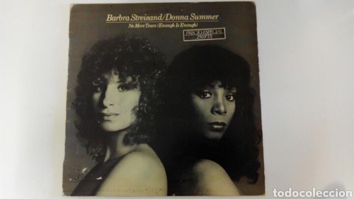 BARBRA STREISAND / DONNA SUMMER. SÓLO PORTADA, SIN DISCO (Música - Discos de Vinilo - Maxi Singles - Pop - Rock Internacional de los 70)