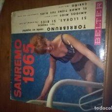 Discos de vinilo: SANREMO 1965. TORREBRUNO. CANTA EN ESPAÑOL. MB2. Lote 96662567