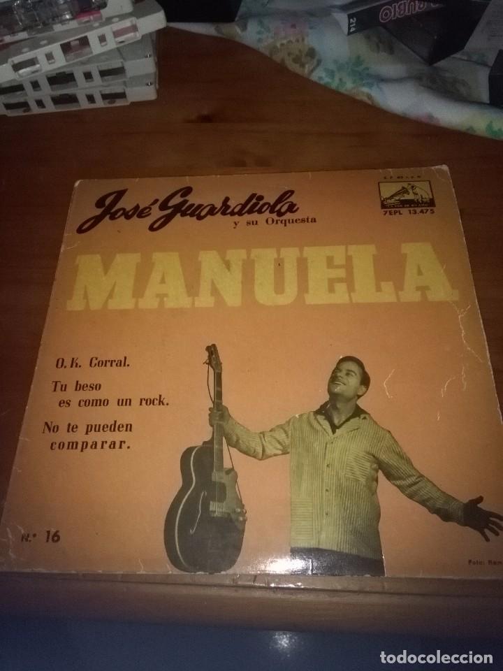 JOSÉ GUARDIOLA Y SU ORQUESTA. MANUELA. MB1 (Música - Discos de Vinilo - EPs - Flamenco, Canción española y Cuplé)