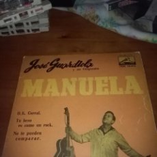 Discos de vinilo: JOSÉ GUARDIOLA Y SU ORQUESTA. MANUELA. MB1. Lote 96663371